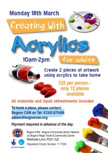 Creating with Acrylics - 18 March 2013