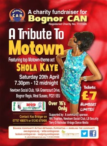 Tribute to Motown Fundraiser - 20 April